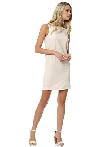 Yaka Detaylı Dar Mini Elbise-Stefanel